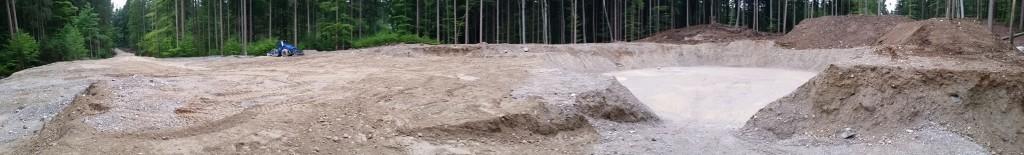 Baustelle im Forst