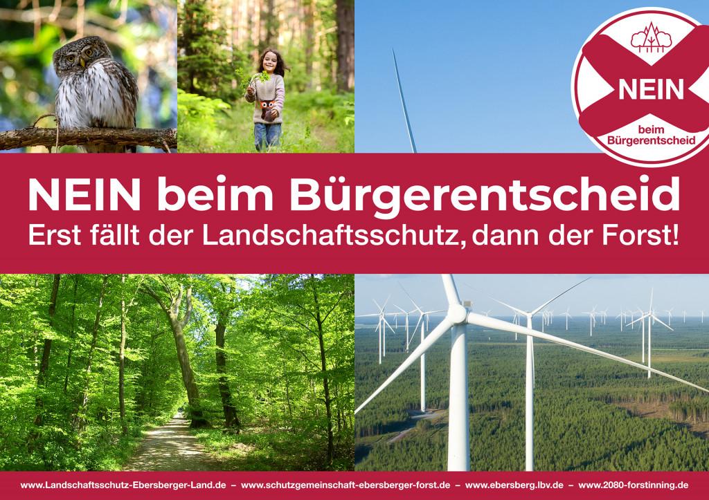 Keine Windräder im Ebersberger Forst